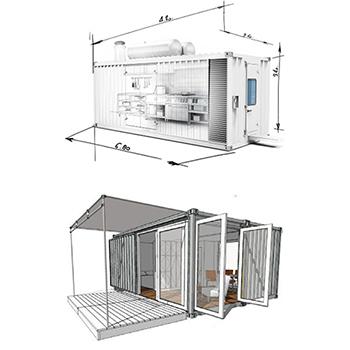 Locação de Cozinha Container